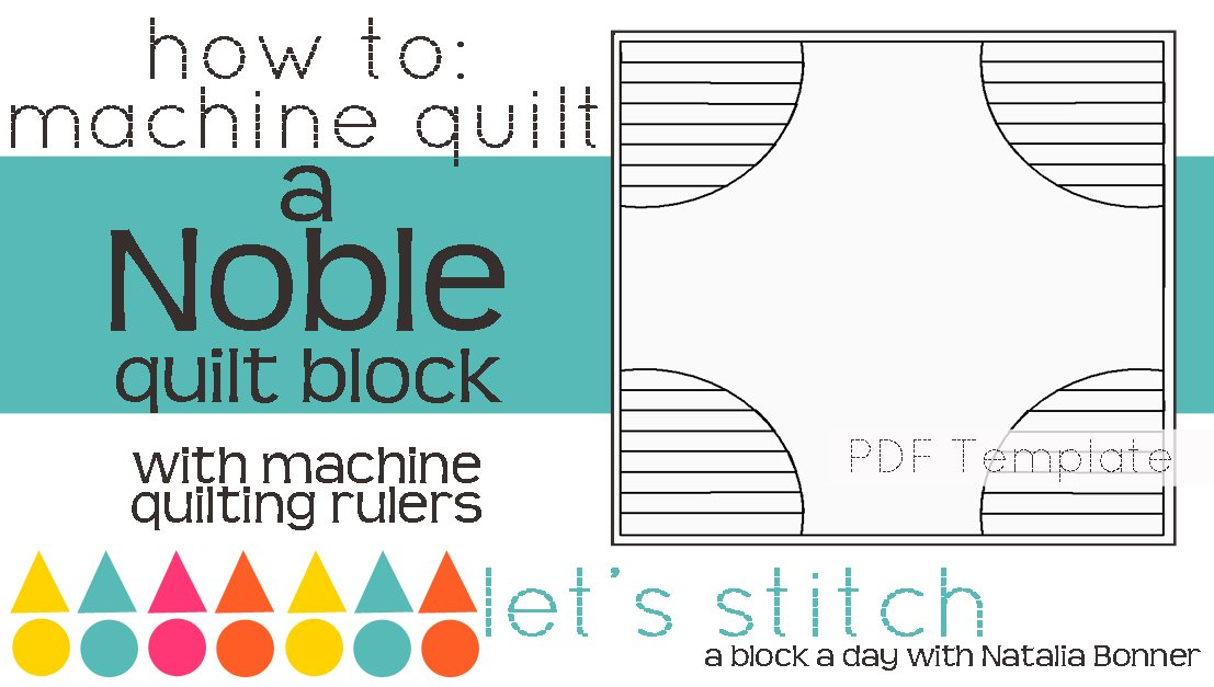 Let's Stitch - A Block a Day With Natalia Bonner - PDF - Noble