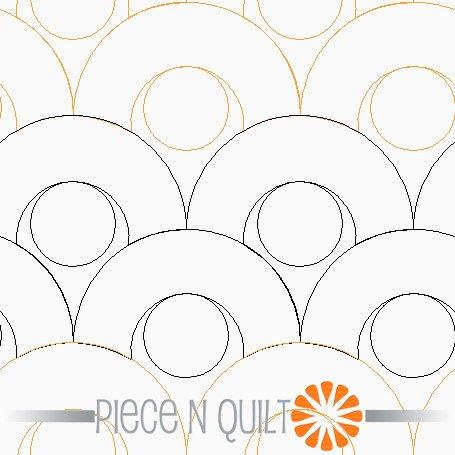 Noodles Pantograph Pattern - Paper