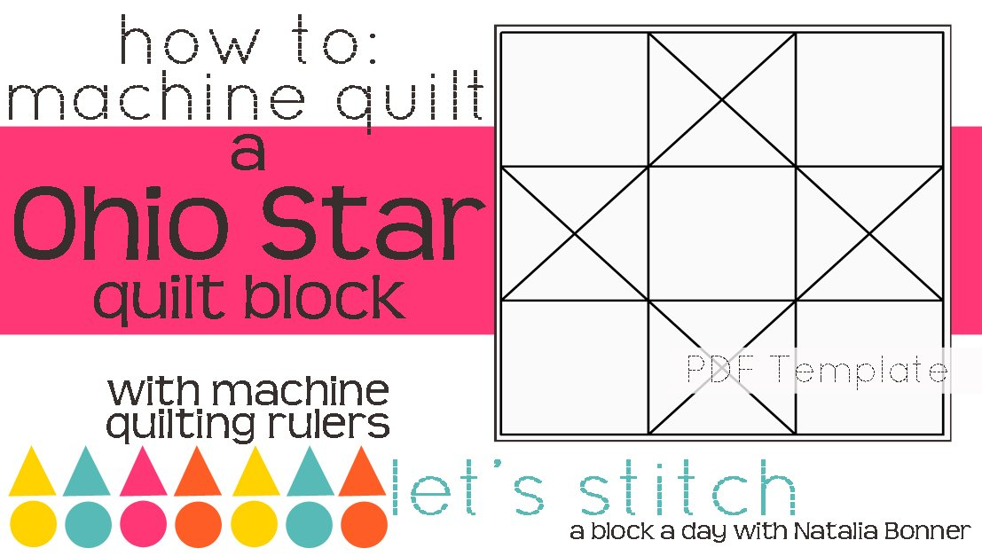 Let's Stitch - A Block a Day With Natalia Bonner - PDF - Ohio Star