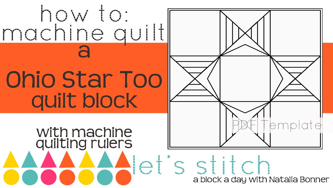 Let's Stitch - A Block a Day With Natalia Bonner - PDF - Ohio Star Too