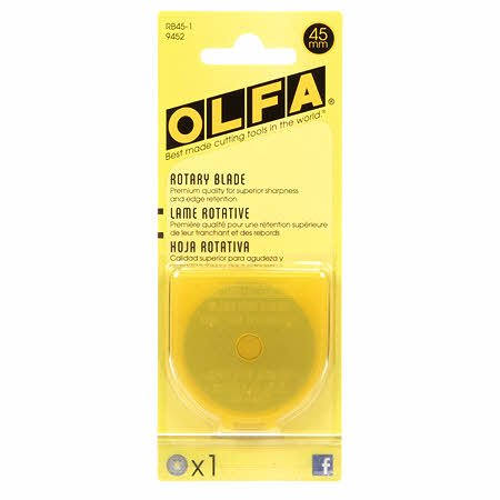 Olfa 45mm Rotary Blade - 1pk