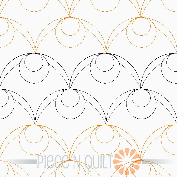 Olive Pantograph Pattern - Digital