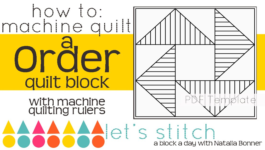 Let's Stitch - A Block a Day With Natalia Bonner - PDF - Order