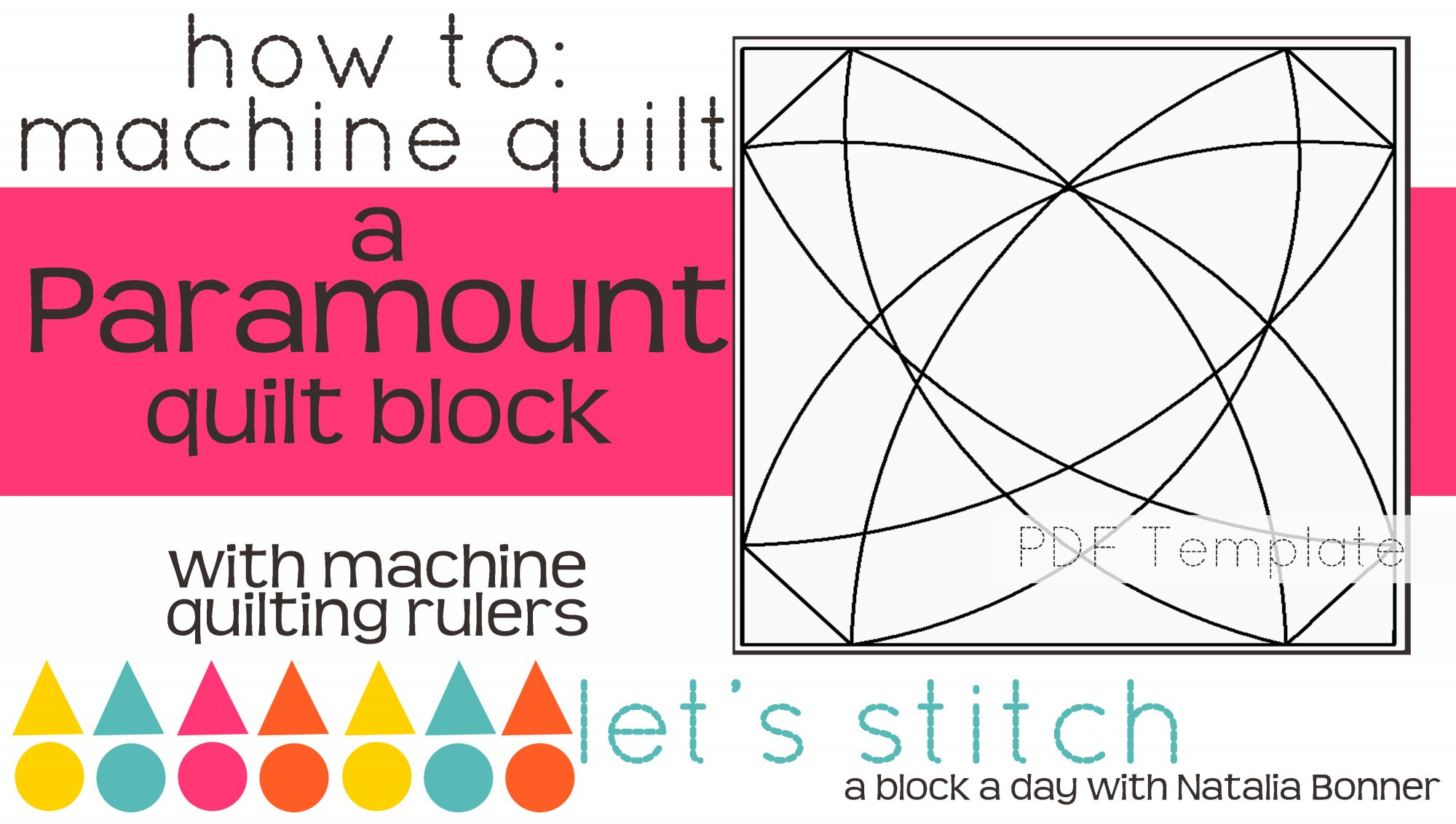 Let's Stitch - A Block a Day With Natalia Bonner - PDF - Paramount