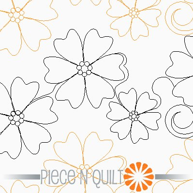 Pebble Flower Pantograph Pattern - Paper