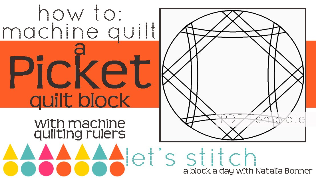 Let's Stitch - A Block a Day With Natalia Bonner - PDF - Picket