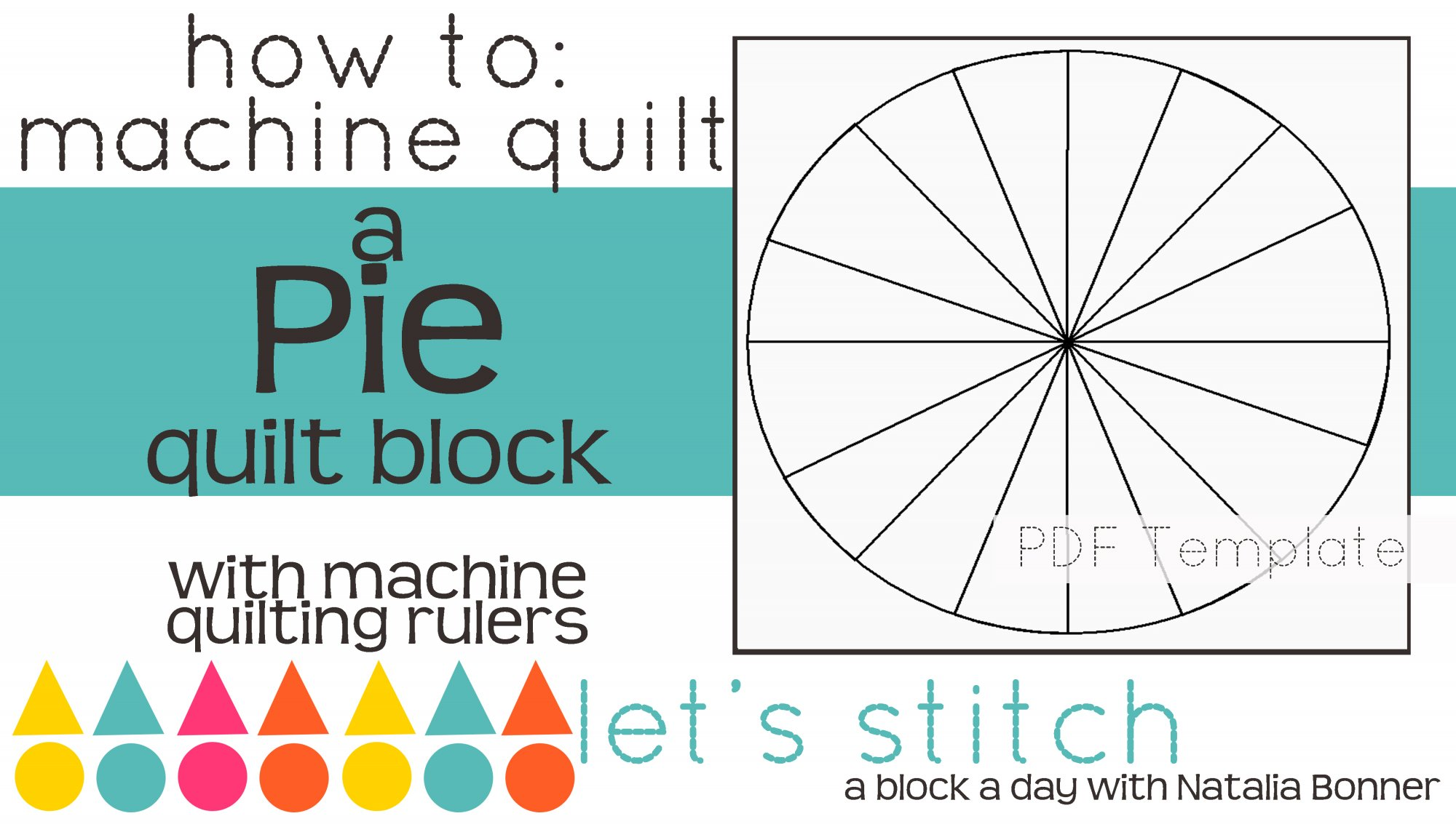 Let's Stitch - A Block a Day With Natalia Bonner - PDF - Pie