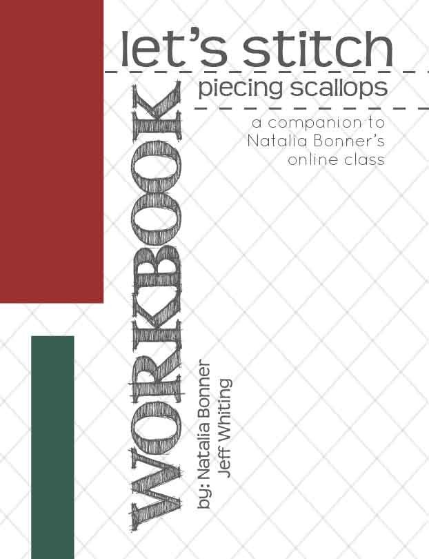Let's Stitch - Scalloped Borders - Piecing Workbook