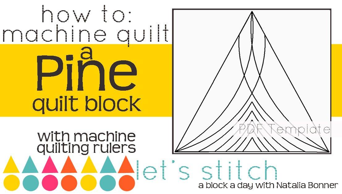 Let's Stitch - A Block a Day With Natalia Bonner - PDF - Pine