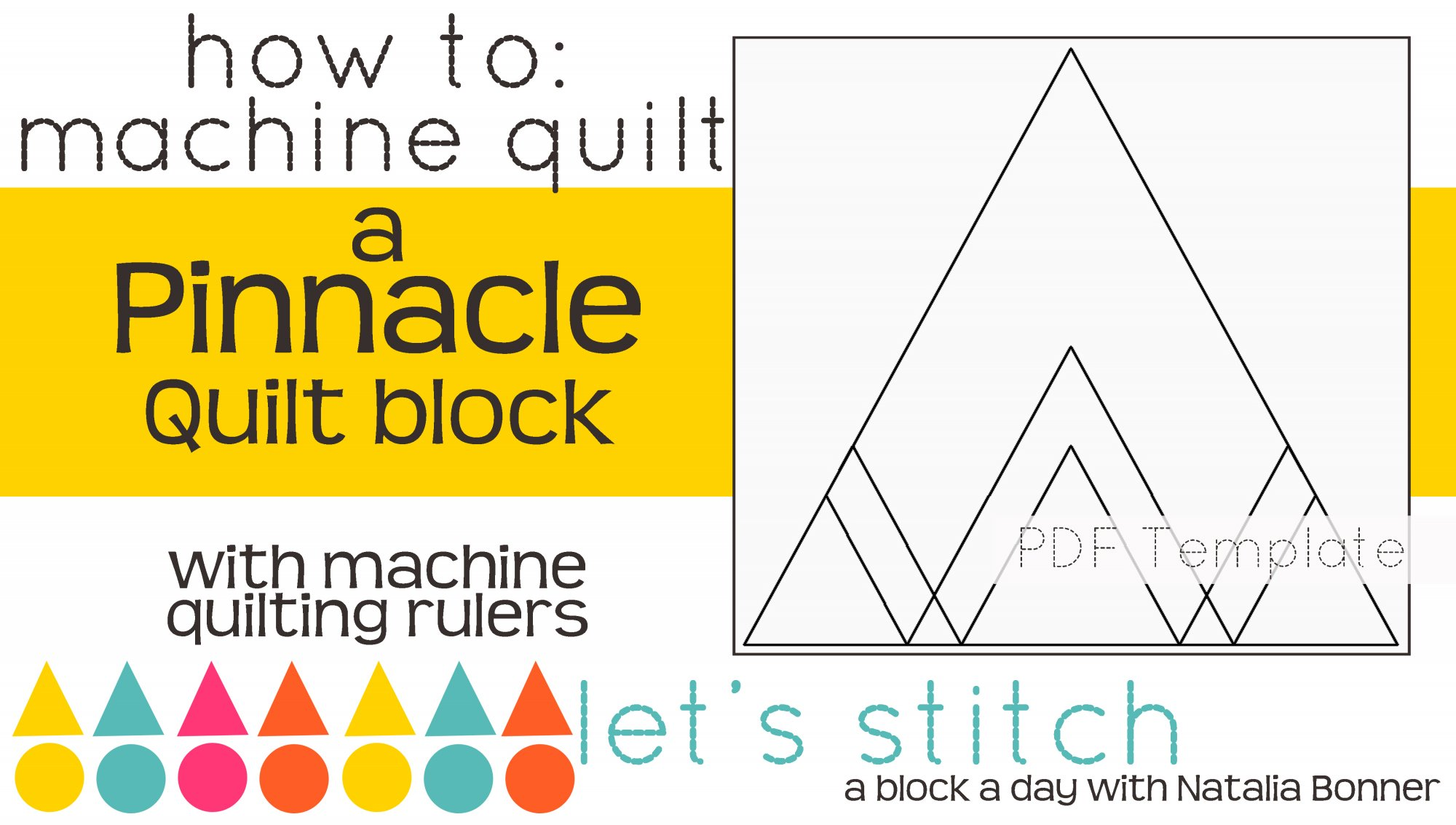 Let's Stitch - A Block a Day With Natalia Bonner - PDF - Pinnacle