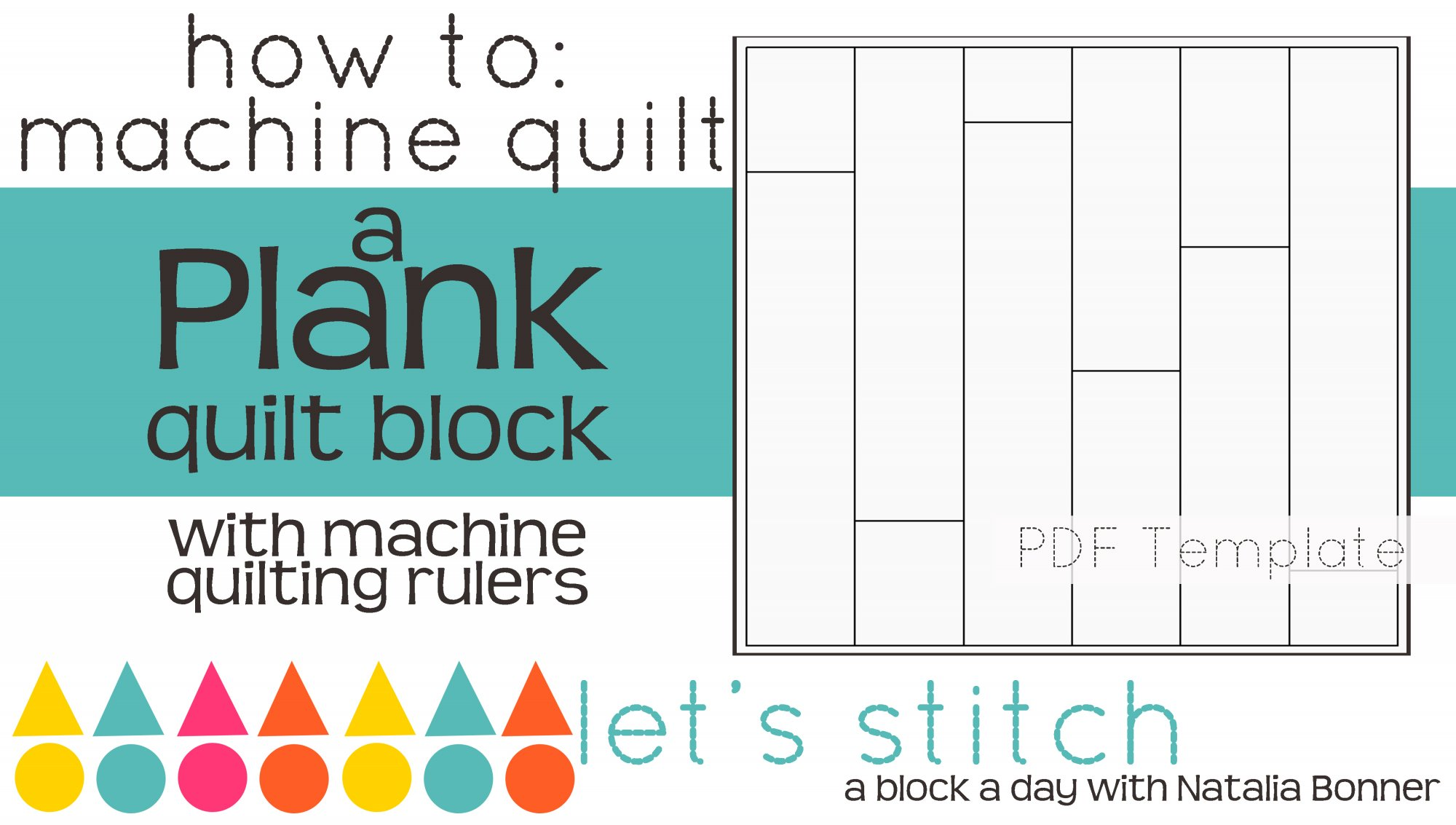 Let's Stitch - A Block a Day With Natalia Bonner - PDF - Plank