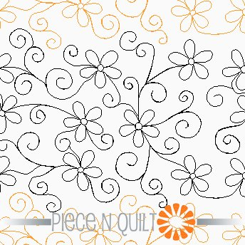 Playful Daisies Pantograph Pattern - Paper