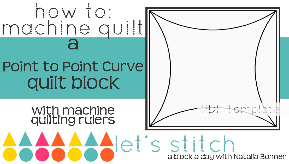 Let's Stitch - A Block a Day With Natalia Bonner - PDF - Point to Point Curve