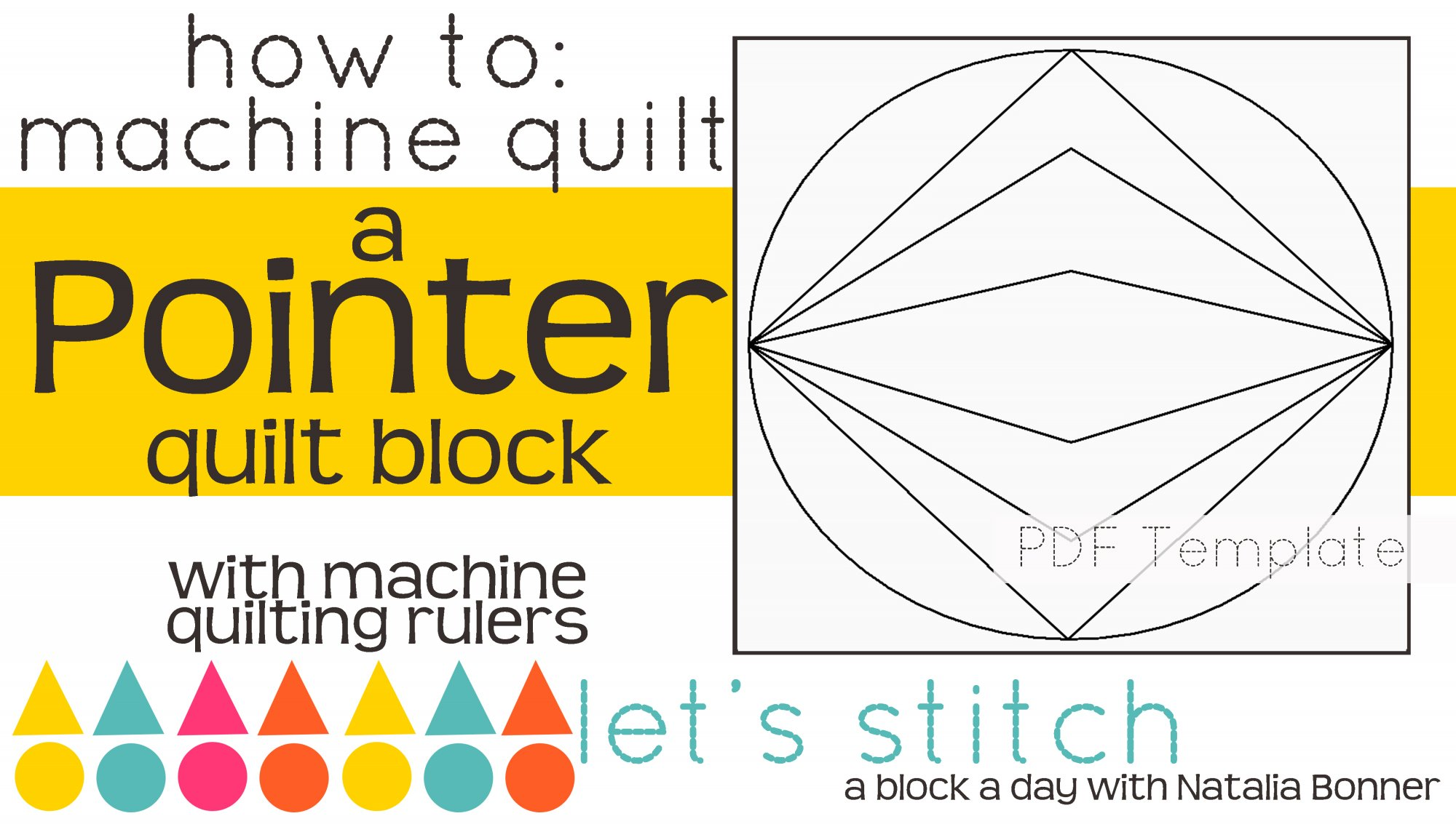 Let's Stitch - A Block a Day With Natalia Bonner - PDF - Pointer