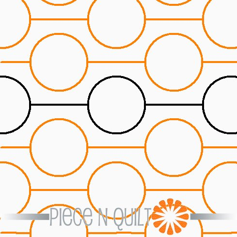 Polka Dot Pantograph Pattern - Digital