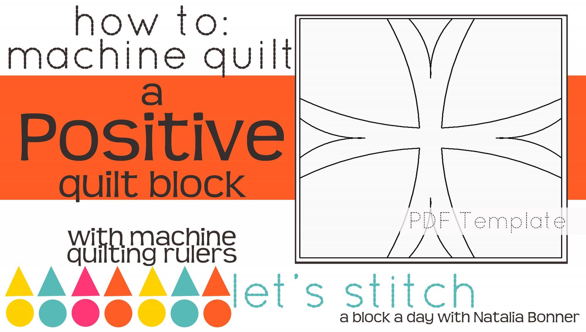 Let's Stitch - A Block a Day With Natalia Bonner - PDF - Positive
