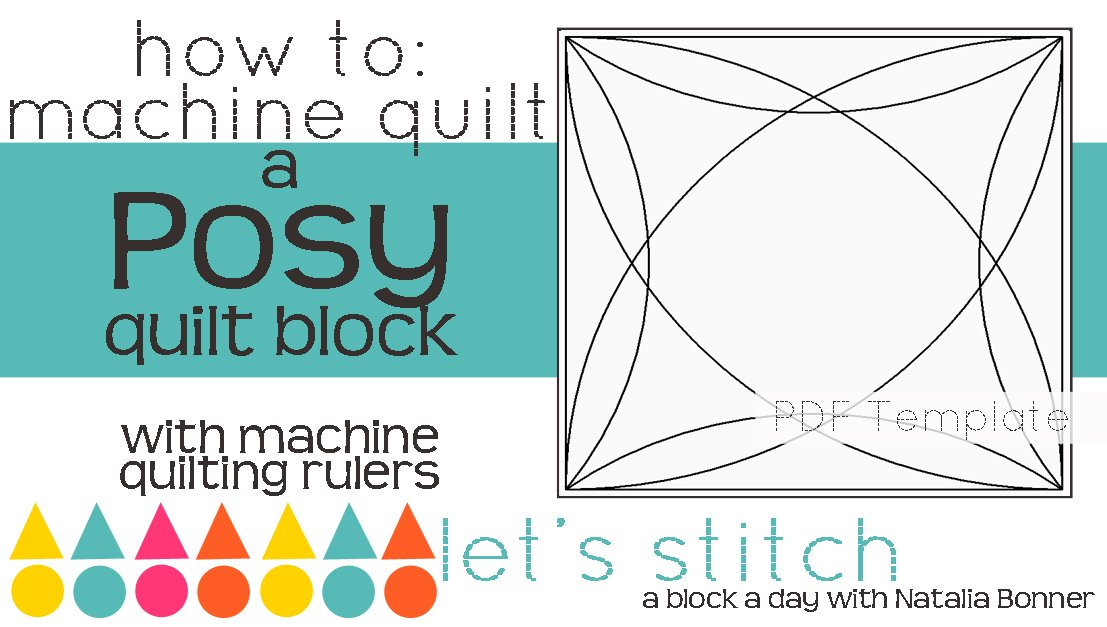 Let's Stitch - A Block a Day With Natalia Bonner - PDF - Posy