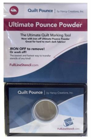 Stencil Chalk Transfer Quilt Pounce Pad - Blue or White