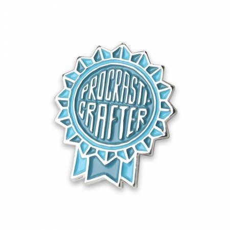 Procrasticrafter Enamel Pin - Blue