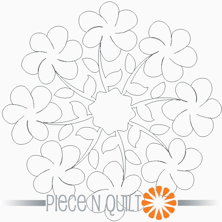 Prosper Round Machine Quilting Pattern - Digital
