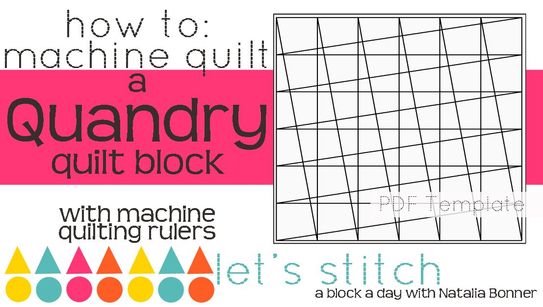 Let's Stitch - A Block a Day With Natalia Bonner - PDF - Quandry