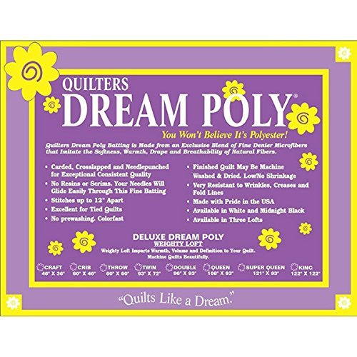 Quilters Dream Poly Deluxe Batting - Twin - 72x93
