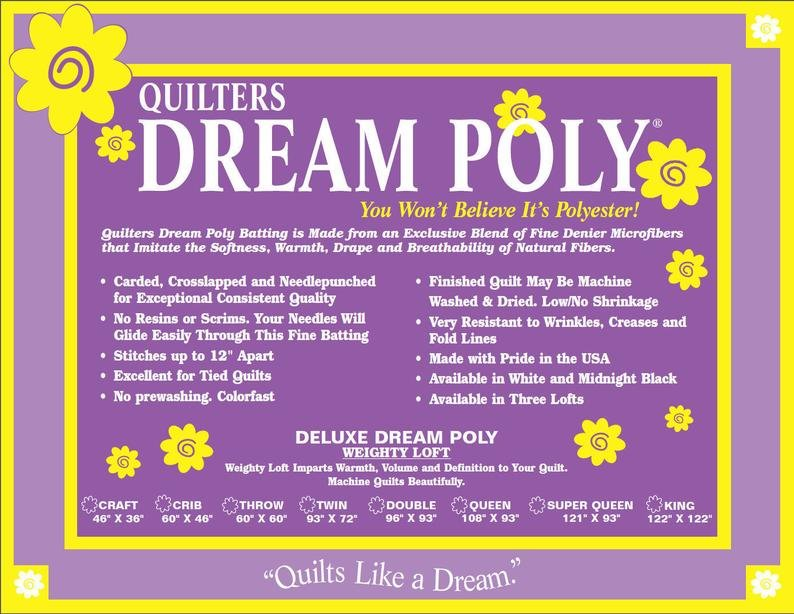 Quilters Dream Poly Deluxe Batting - TWIN