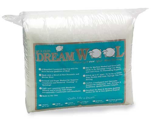 Quilters Dream Wool Batting - Queen - 93x108