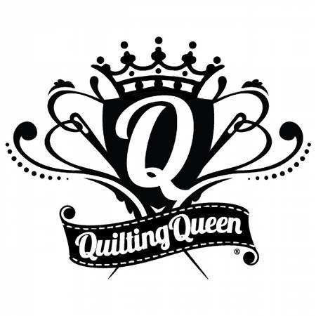 Vinyl Window Decal - Quilting Queen Crest