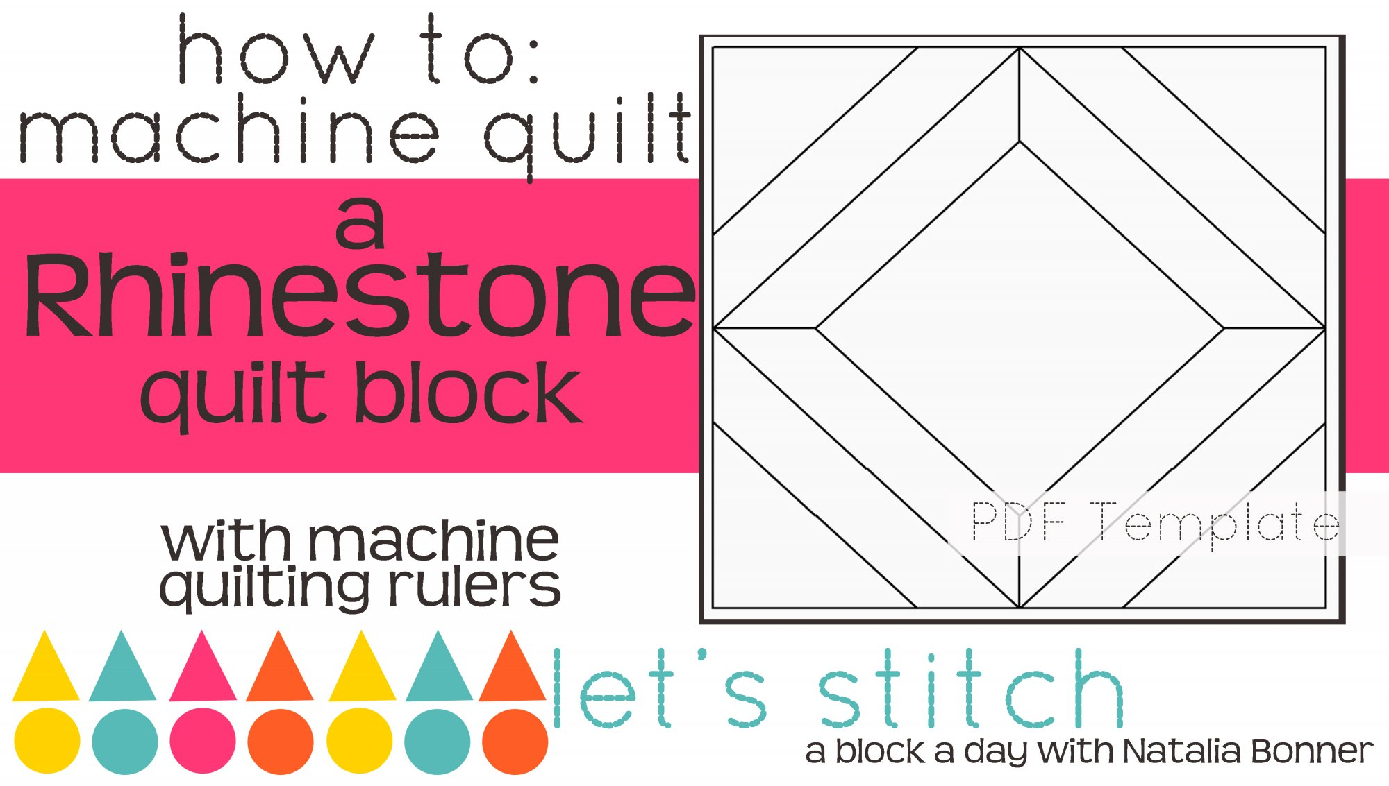 Let's Stitch - A Block a Day With Natalia Bonner - PDF - Rhinestone