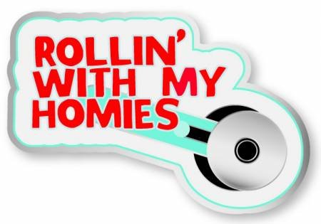 Enamel Pin Rotary Cutter Rolling With My Homies
