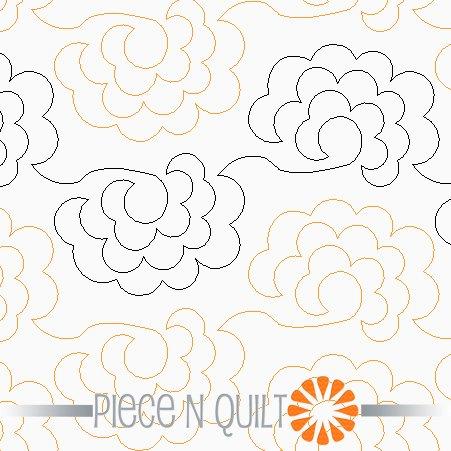 Roses Pantograph Pattern - Digital
