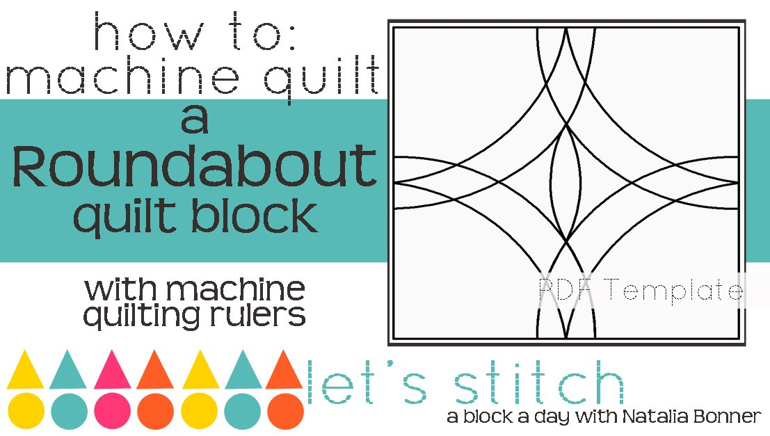 Let's Stitch - A Block a Day With Natalia Bonner - PDF - Roundabout