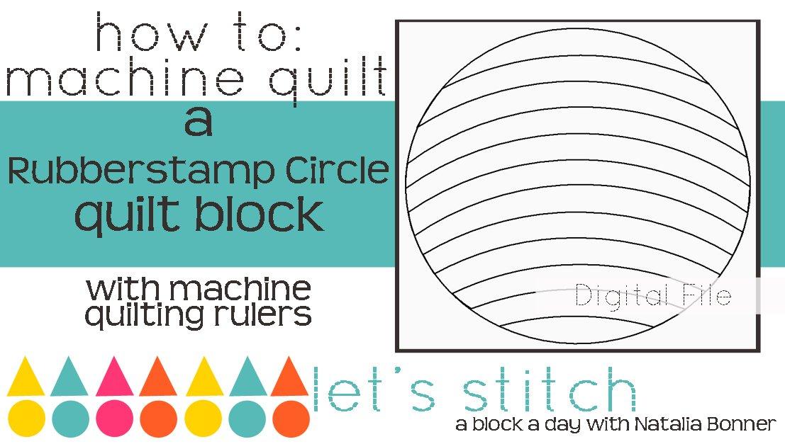 Rubberstamp Circle 6 Block - Digital