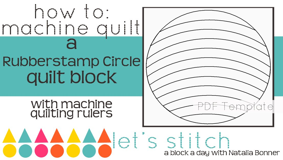 Let's Stitch - A Block a Day With Natalia Bonner - PDF - Rubberstamp Circle
