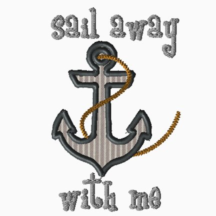 Sail Away With Me Applique