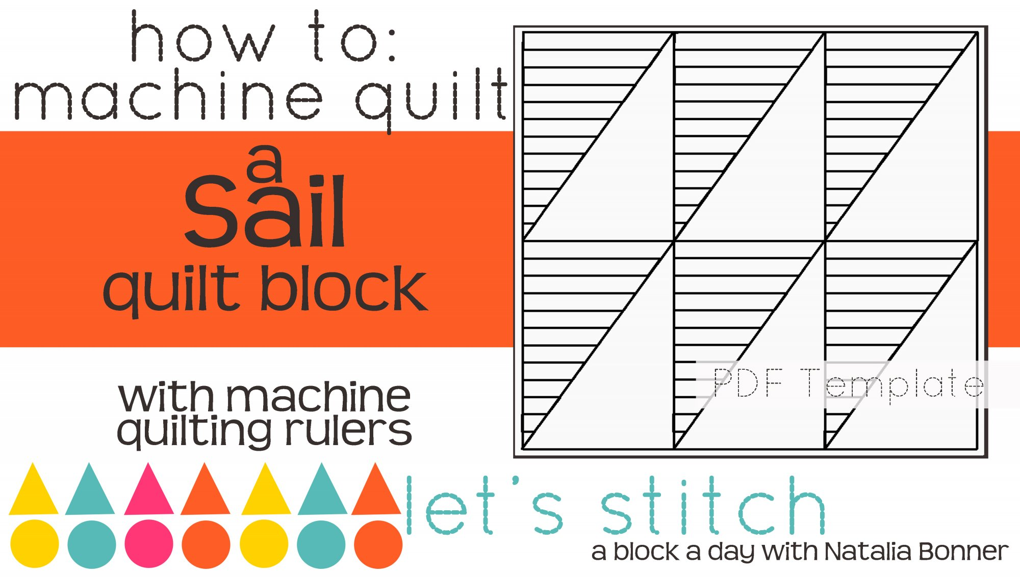 Let's Stitch - A Block a Day With Natalia Bonner - PDF - Sail