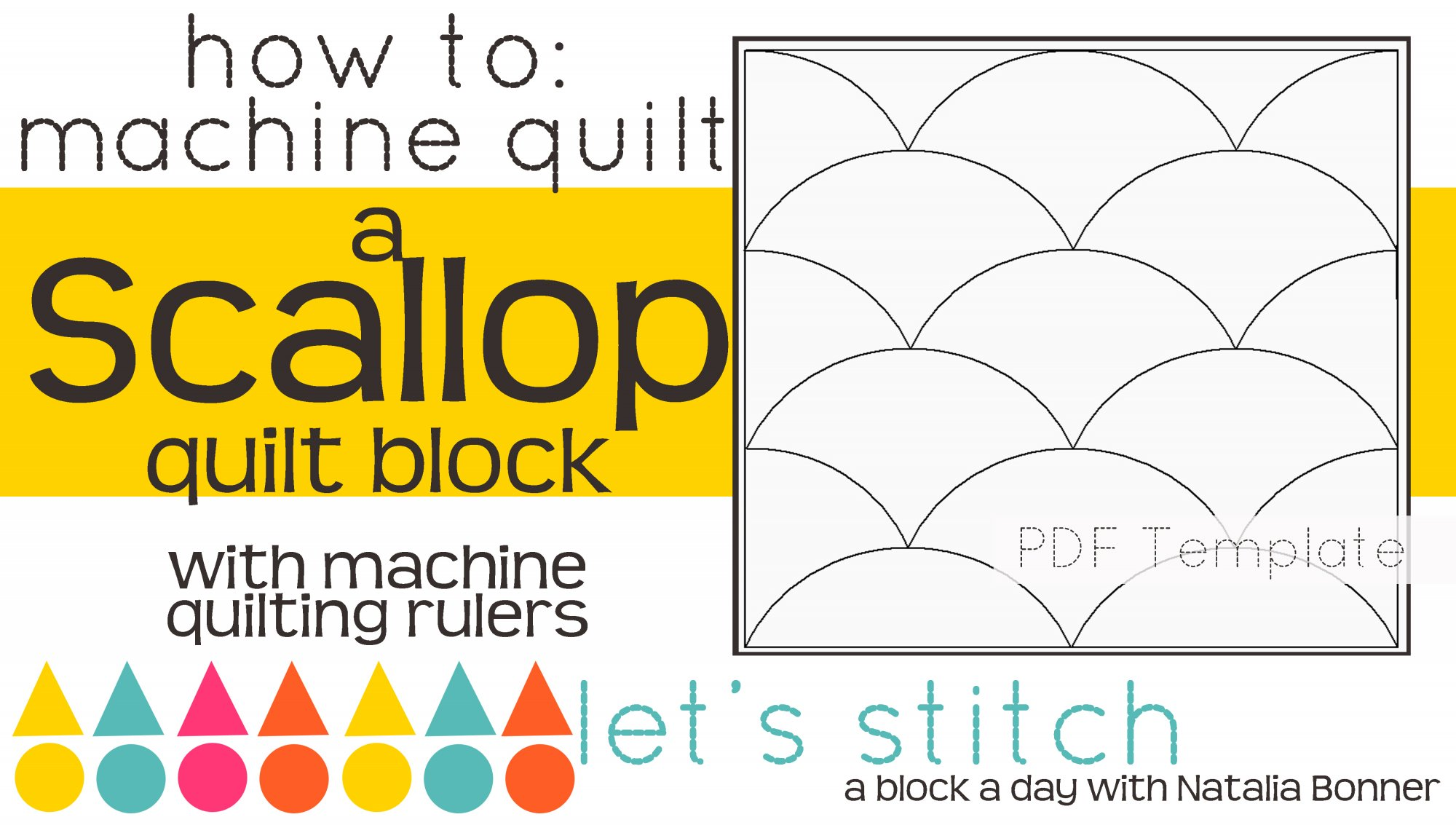 Let's Stitch - A Block a Day With Natalia Bonner - PDF - Scallop