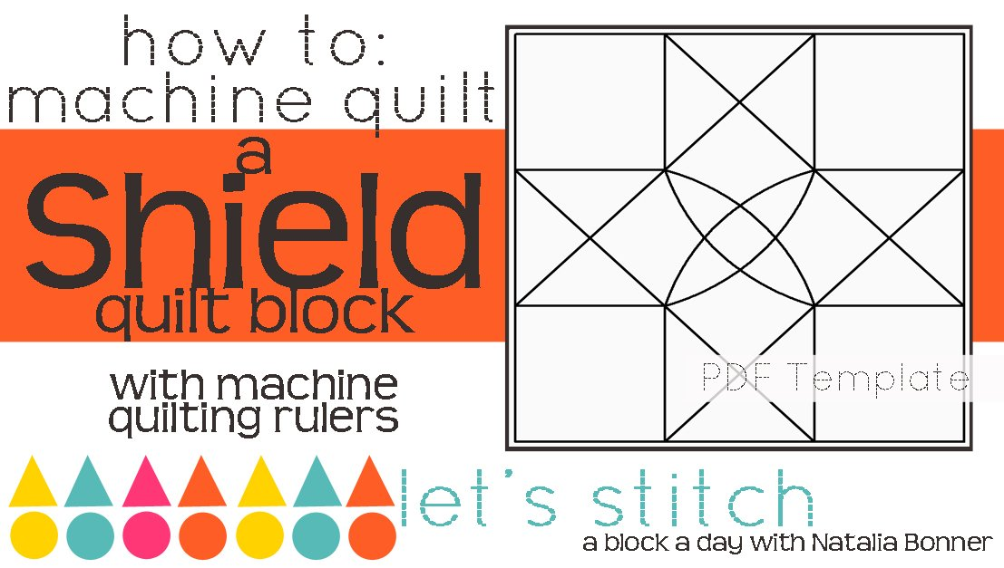 Let's Stitch - A Block a Day With Natalia Bonner - PDF - Shield