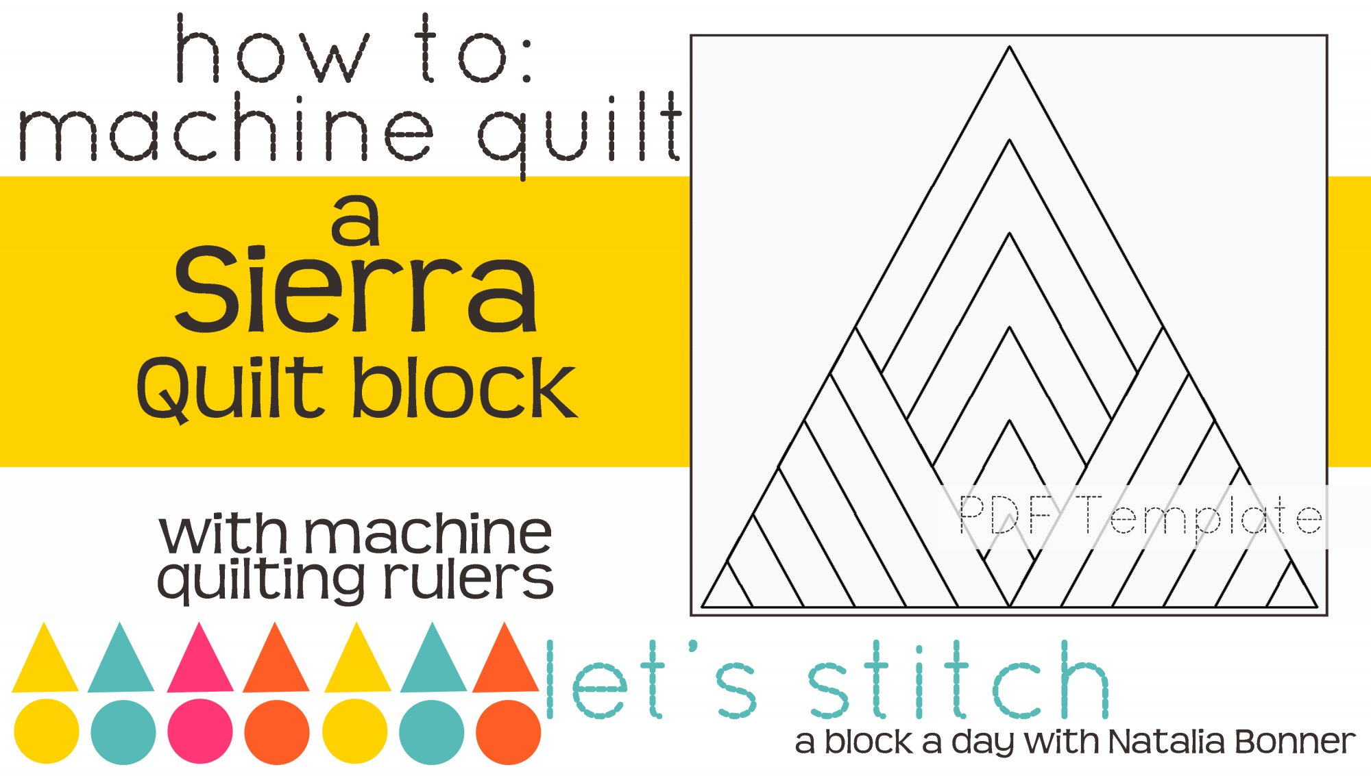 Let's Stitch - A Block a Day With Natalia Bonner - PDF - Sierra