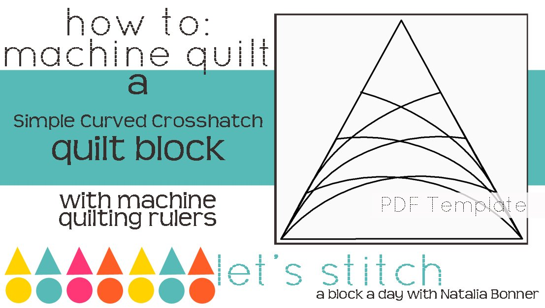 Let's Stitch - A Block a Day With Natalia Bonner - PDF - Simple Curved Crosshatching