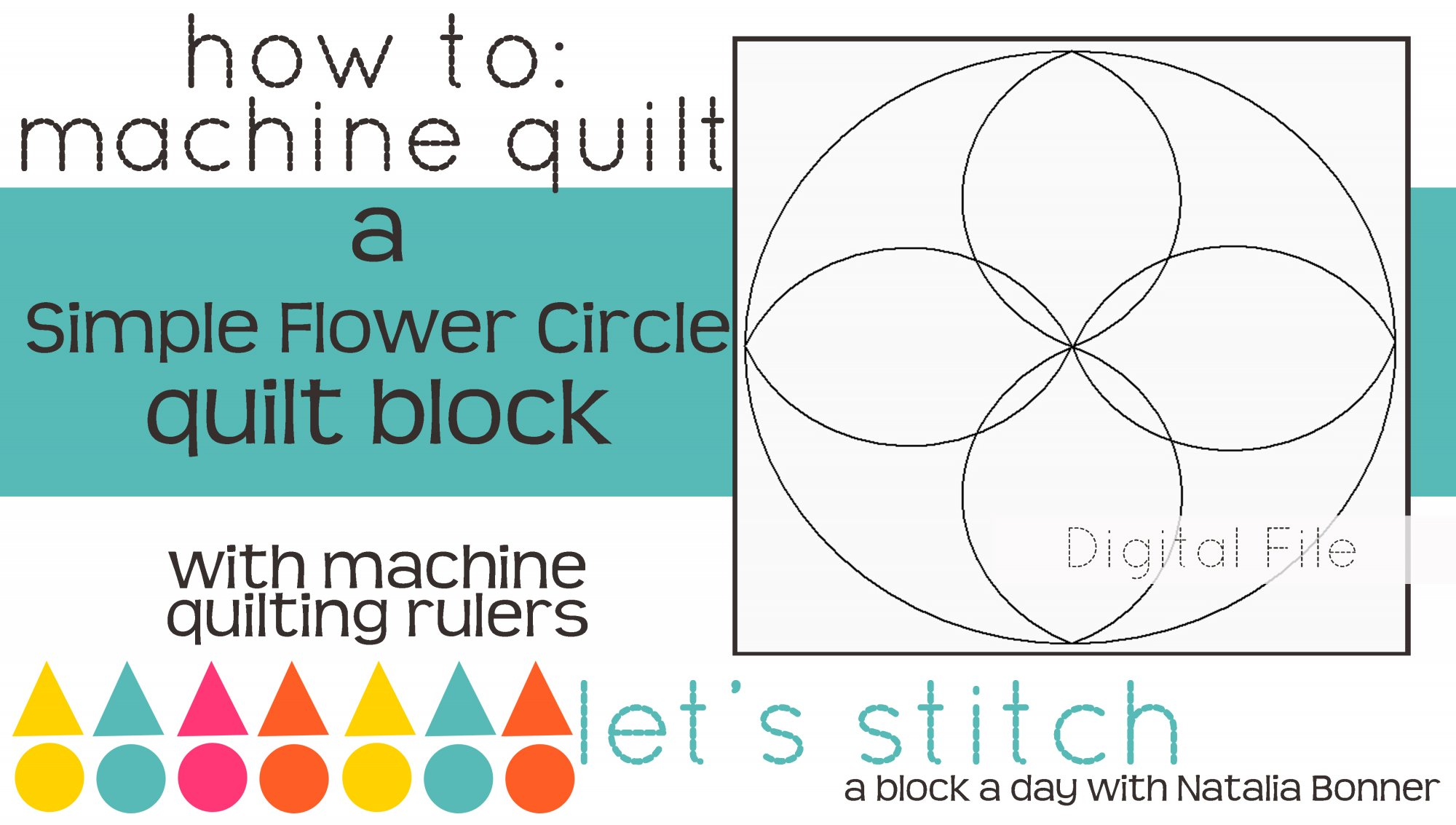 Simple Flower Circle 6 Block - Digital