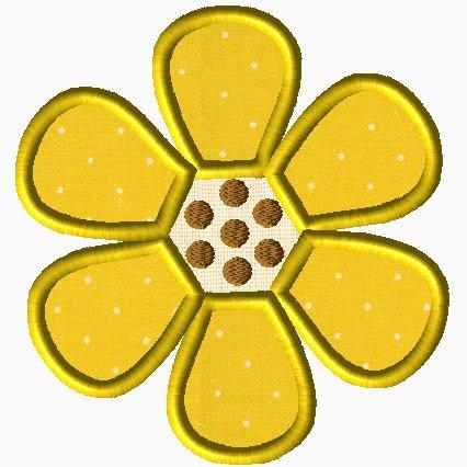 Six Petal Flower Applique