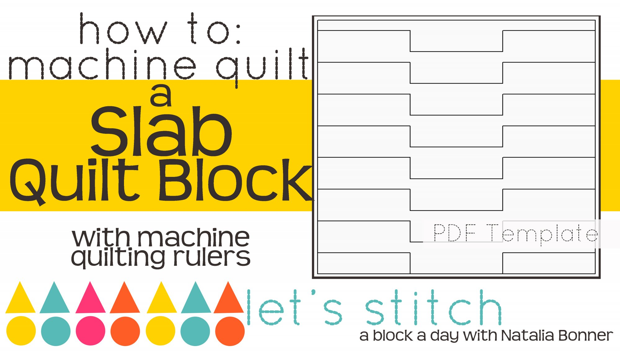 Let's Stitch - A Block a Day With Natalia Bonner - PDF - Slab
