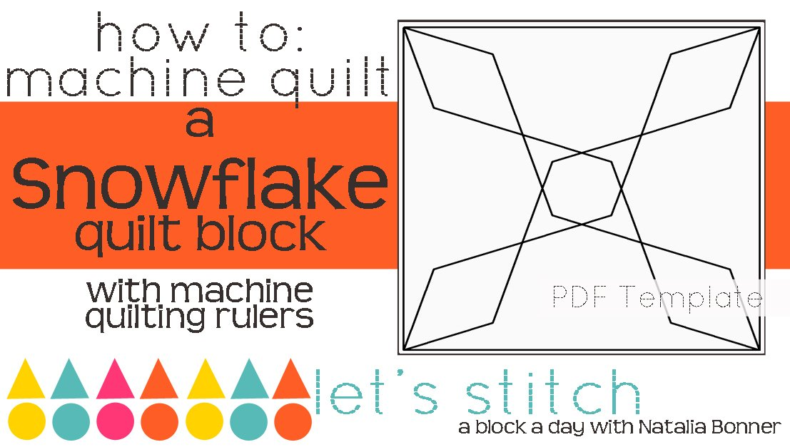 Let's Stitch - A Block a Day With Natalia Bonner - PDF - Snowflake