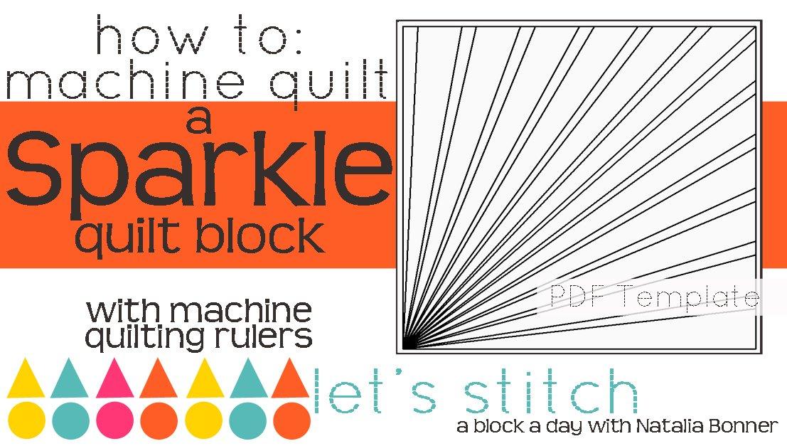 Let's Stitch - A Block a Day With Natalia Bonner - PDF - Sparkle