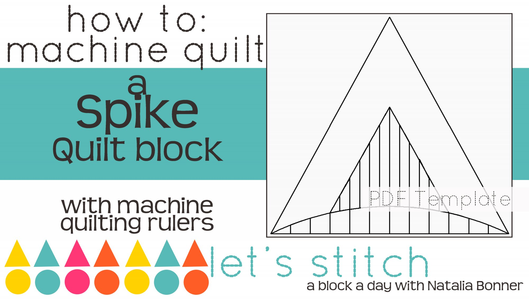 Let's Stitch - A Block a Day With Natalia Bonner - PDF - Spike