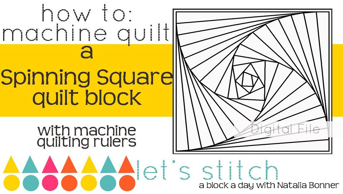 Spinning Square 6 Block - Digital