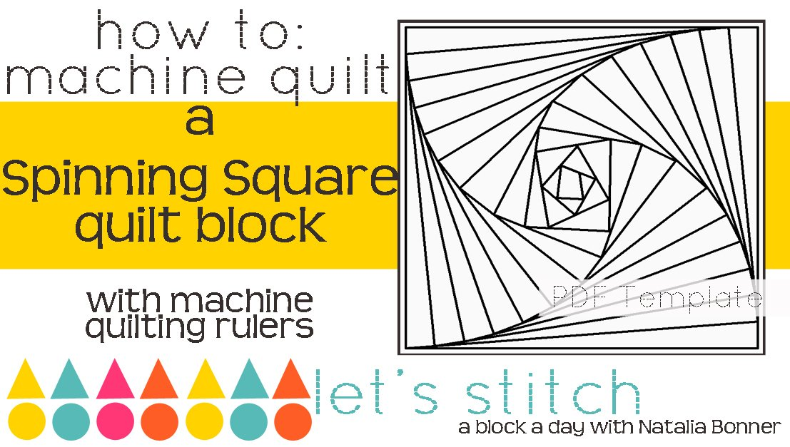 Let's Stitch - A Block a Day With Natalia Bonner - PDF - Spinning Square