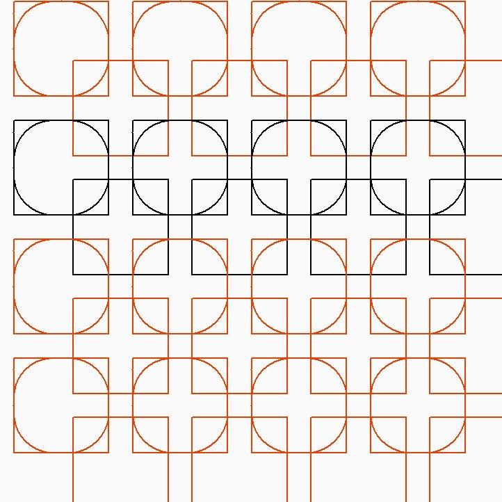 Square Dance Pantograph Pattern - Digital